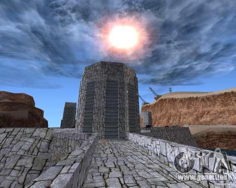 La nouvelle structure du barrage pour GTA San Andreas deuxième écran