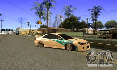 Subaru Impreza WRX STi 2006 pour GTA San Andreas vue intérieure