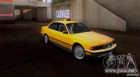 BMW 730i E38 1996 Taxi pour GTA San Andreas