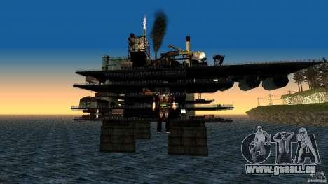 Plate-forme pétrolière à Los Santos pour GTA San Andreas deuxième écran