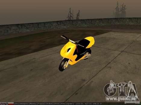 Yamaha Aerox pour GTA San Andreas vue de dessous