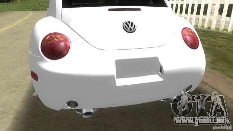 VW New Beetle pour une vue GTA Vice City de la droite