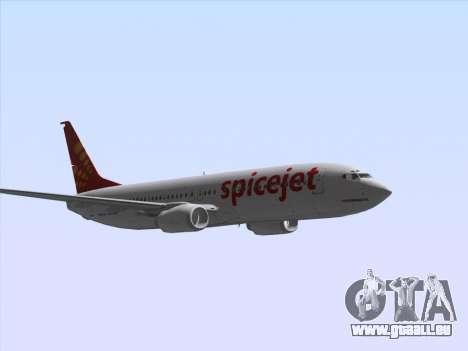 Boeing 737-8F2 Spicejet pour GTA San Andreas vue intérieure