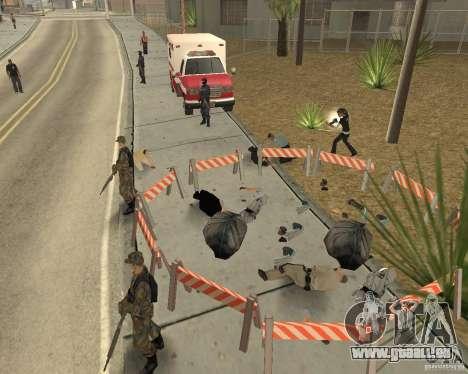 Scène du crime (scène de Crime) pour GTA San Andreas quatrième écran
