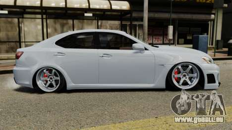 Lexus IS F 2009 pour GTA 4 est une gauche