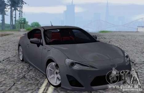 Toyota GT86 pour GTA San Andreas vue intérieure