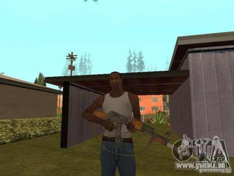 AK 47 avec un HD de baïonnette-couteau pour GTA San Andreas