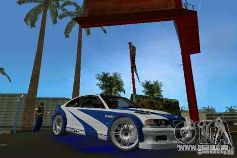 BMW M3 GTR NFSMW für GTA Vice City