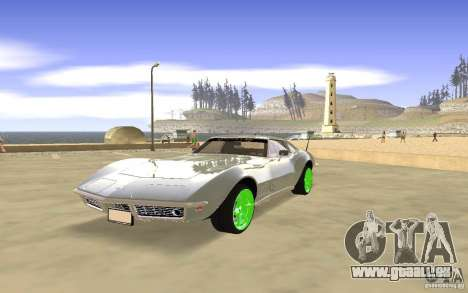 Chevrolet Corvette Stingray Monster Energy pour GTA San Andreas vue de dessous