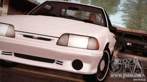 Ford Mustang SVT Cobra 1993 pour GTA San Andreas vue de droite
