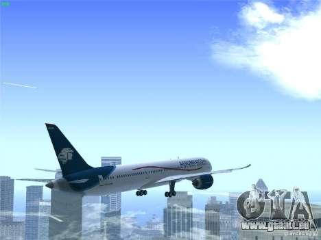Boeing 787-8 Dreamliner AeroMexico für GTA San Andreas obere Ansicht