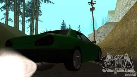 Elegy pour GTA San Andreas vue de droite