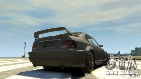 Sentinel Grand Sport pour GTA 4 Vue arrière de la gauche