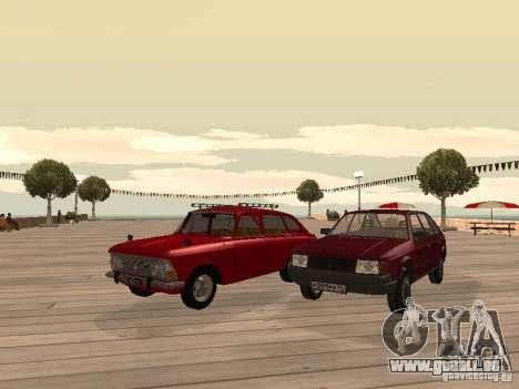 AZLK Moskvich 2141 für GTA San Andreas Rückansicht