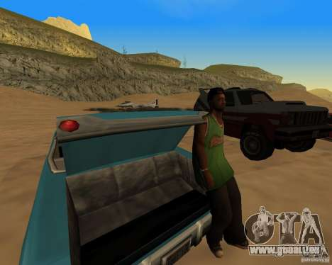 Plage večirinka pour GTA San Andreas troisième écran