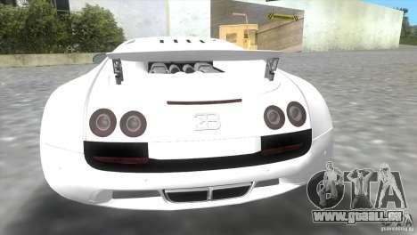 Bugatti ExtremeVeyron pour GTA Vice City vue arrière