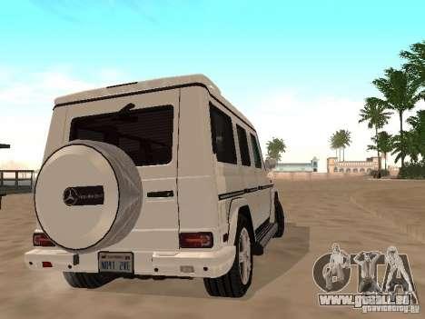 Mercedes-Benz Galendewagen G500 für GTA San Andreas Innenansicht