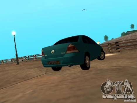 Nissan Almera Classic pour GTA San Andreas vue arrière