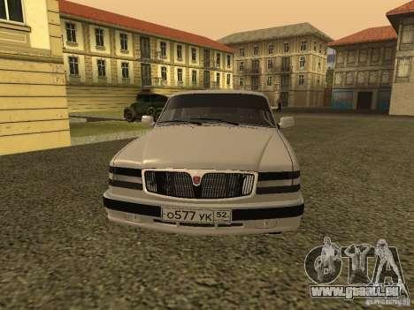 Volga GAZ 3110 pour GTA San Andreas laissé vue