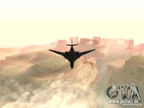 Tu 160 Black Jack für GTA San Andreas rechten Ansicht