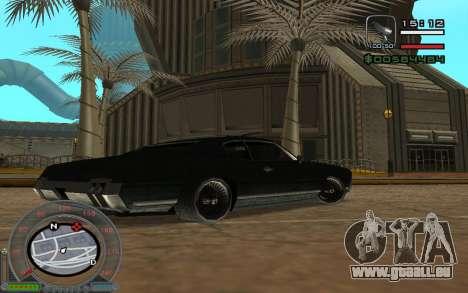 New Sabre pour GTA San Andreas vue de côté