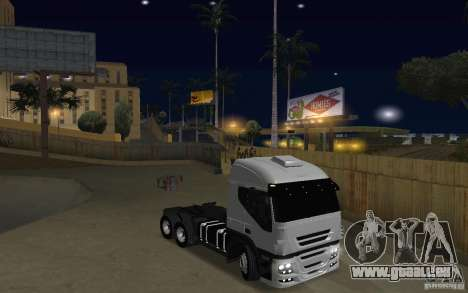 Iveco Stralis Double Trailers für GTA San Andreas Rückansicht