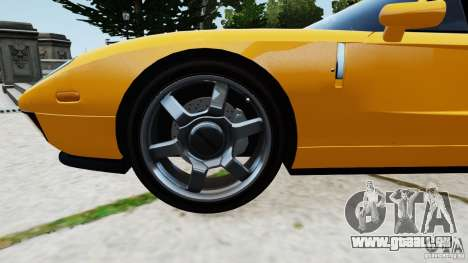Ford GT 2005 v1.0 pour GTA 4 est une vue de l'intérieur
