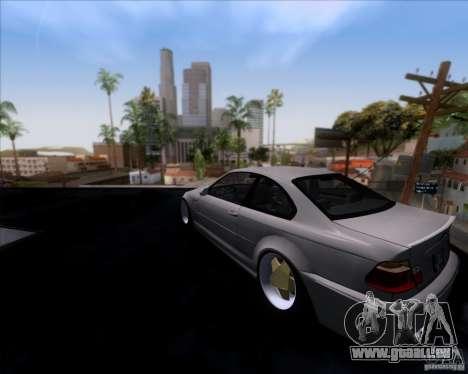 BMW 3-er E46 Dope pour GTA San Andreas laissé vue