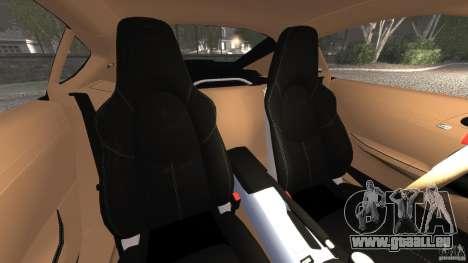 Porsche Cayman R 2012 pour GTA 4 est une vue de l'intérieur