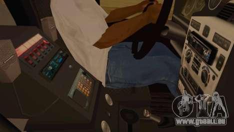 Land Rover Defender Sheriff pour GTA San Andreas vue intérieure