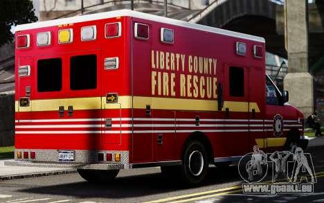 Ford Econoline E350 Ambulance pour GTA 4 Vue arrière de la gauche