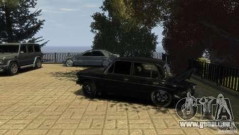 VAZ 2106 pour GTA 4 vue de dessus