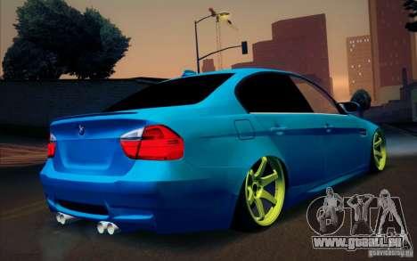 BMW M3 E90 für GTA San Andreas Innenansicht