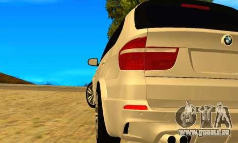 BMW X5M 2013 v2.0 pour GTA San Andreas laissé vue