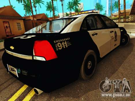Chevrolet Caprice 2011 Police für GTA San Andreas rechten Ansicht