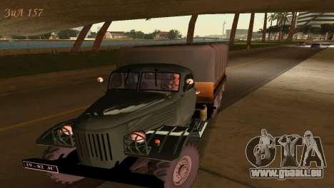 ZIL-157 pour GTA Vice City sur la vue arrière gauche