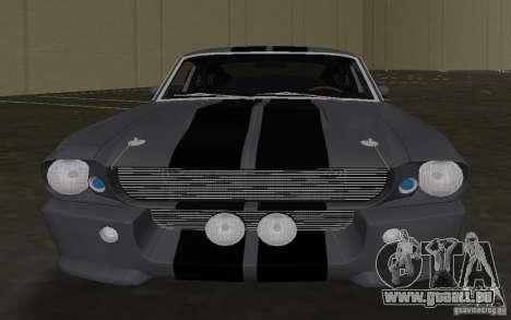 Shelby GT500 Eleanor pour une vue GTA Vice City de l'intérieur