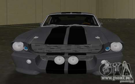 Shelby GT500 Eleanor für GTA Vice City Innenansicht