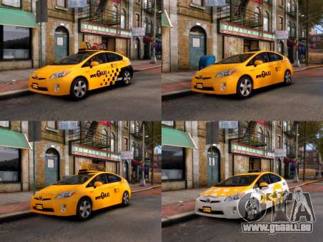 Toyota Prius NYC Taxi 2013 für GTA 4