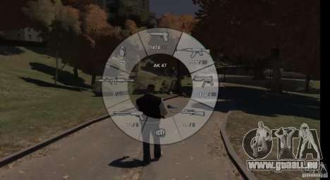 GTA 5 Weapon Wheel HUD für GTA 4 dritte Screenshot