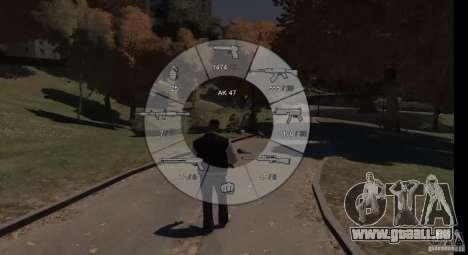 GTA 5 Weapon Wheel HUD für GTA 4 dritte Screenshot