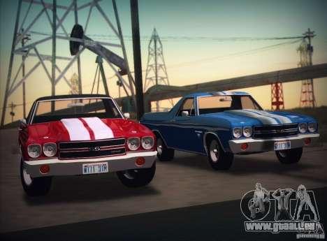 Chevrolet EL Camino SS 70 pour GTA San Andreas sur la vue arrière gauche