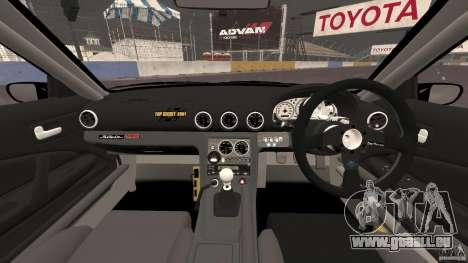 Nissan Silvia S15 D1GP TOP SECRET pour GTA 4 Vue arrière