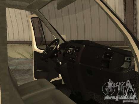 GAZ 2752 Sobol Business pour GTA San Andreas vue intérieure