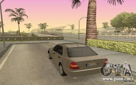Mercedes Benz C220 pour GTA San Andreas laissé vue