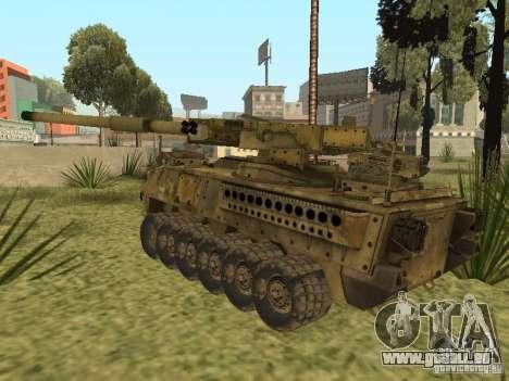 BMTV M1128 MGS pour GTA San Andreas sur la vue arrière gauche