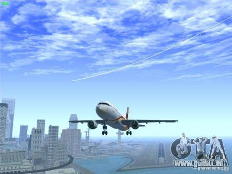 Airbus A320-214 Hong Kong Airlines pour GTA San Andreas salon