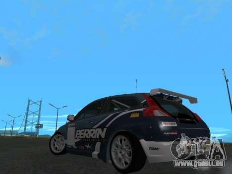 Volvo C30 Race pour GTA San Andreas sur la vue arrière gauche