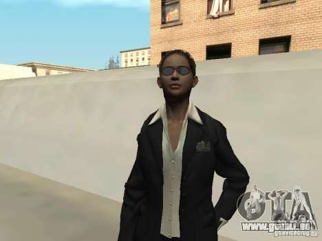 F.B.I peau féminine pour GTA San Andreas deuxième écran