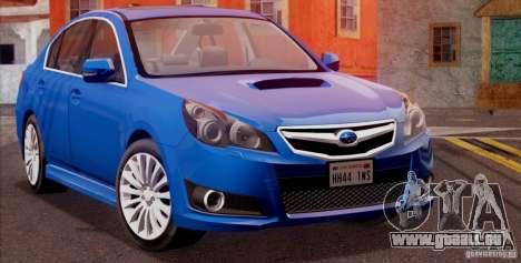 Subaru Legacy B4 2010 für GTA San Andreas zurück linke Ansicht